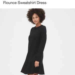 NWT Gap Flounce Sweatshirt Dress